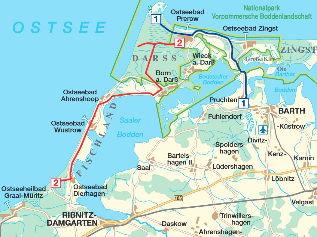 Eine Tagestour mit dem Fahrrad von Prerow nach Dierhagen