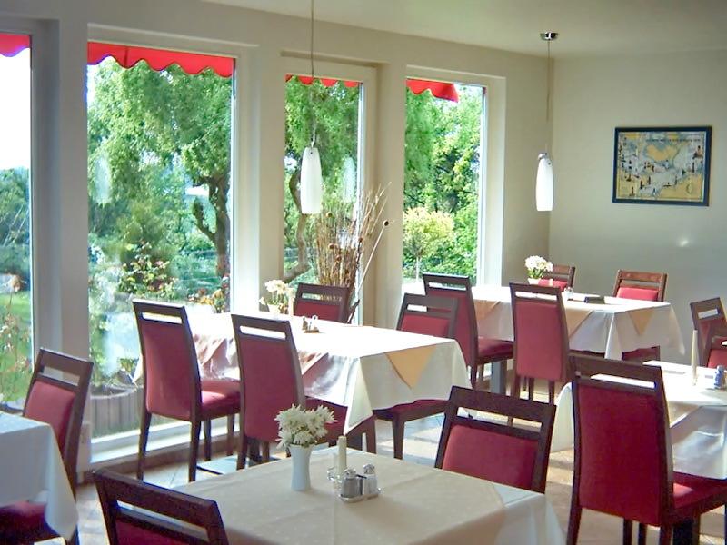 Restaurant mit Terrasse - Aparthotel Leuchtfeuer