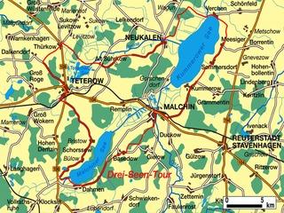 Drei-Seen-Fahrradtour ab Teterow