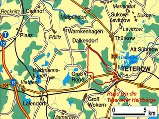Fahrradtour Teterower Heidberge
