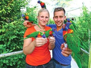 Tiere nah erleben im Vogelpark Marlow