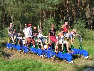 Kombitouren mit der Draisinenbahn und Kanu, Fahrrad, Kutsche oder Schiff