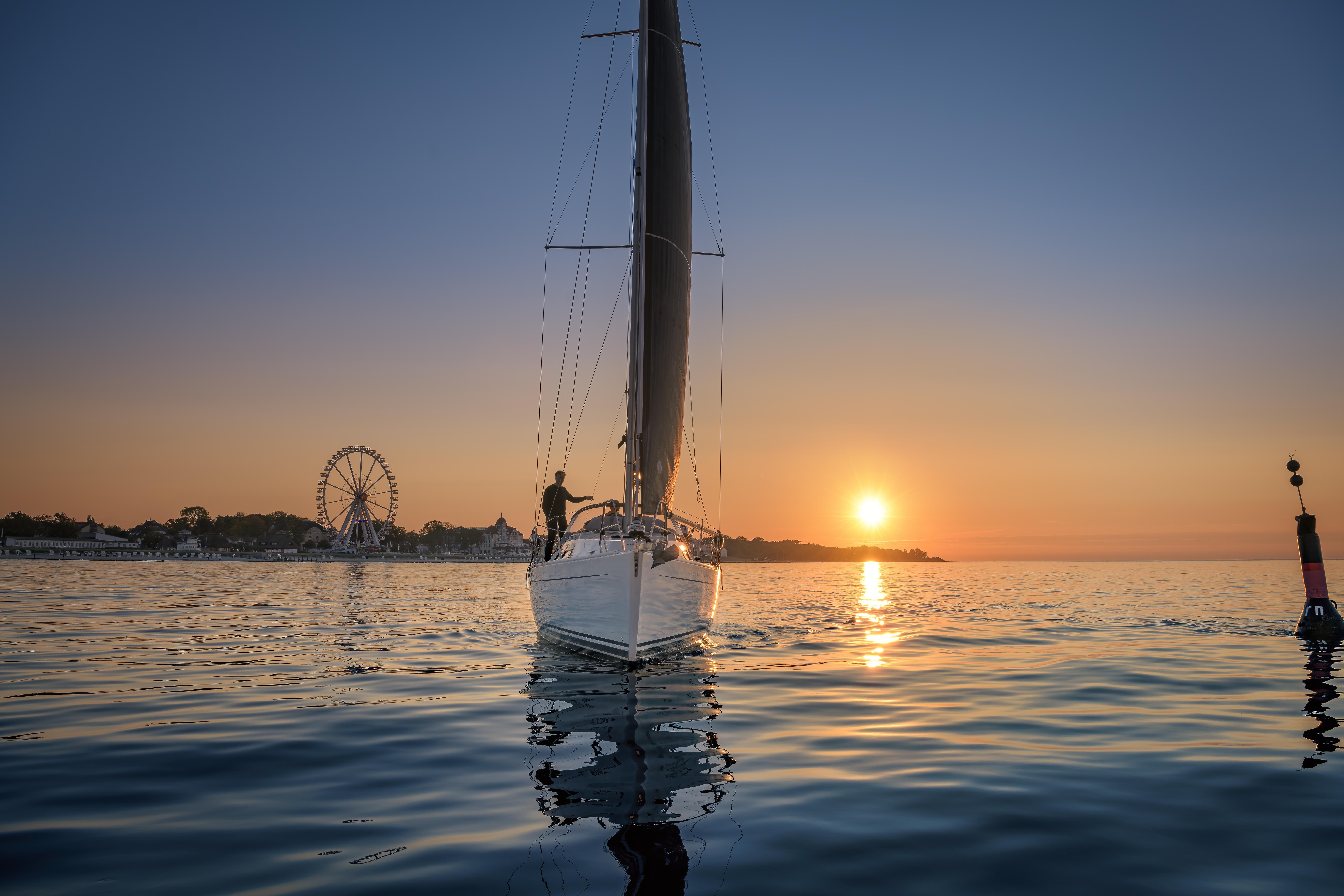 Segelboot vor Kühlungsborn